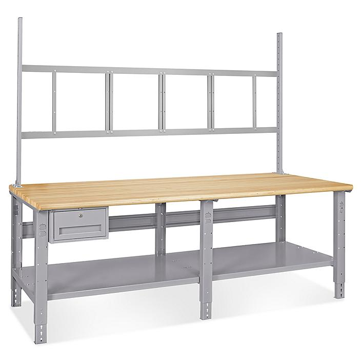 """Deluxe Workstation Starter Table - 96 x 30"""", Maple Top H-6343-MAP"""
