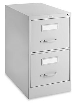 Vertical File Cabinet - Legal, 2 Drawer, Light Gray H-6365GR