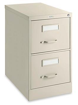 Vertical File Cabinet - Legal, 2 Drawer, Tan H-6365T