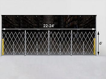 Folding Security Gate - 22-24' x 6' H-6376