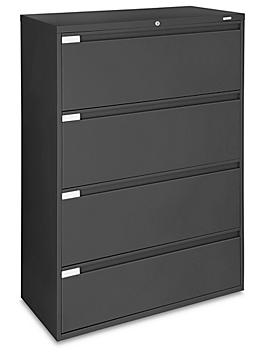 """Lateral File Cabinet - 42"""" Wide, 4 Drawer, Black H-6395BL"""