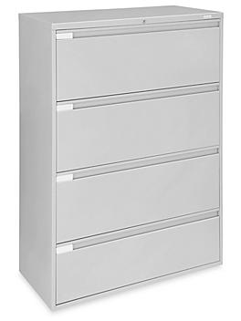 """Lateral File Cabinet - 42"""" Wide, 4 Drawer, Light Gray H-6395GR"""