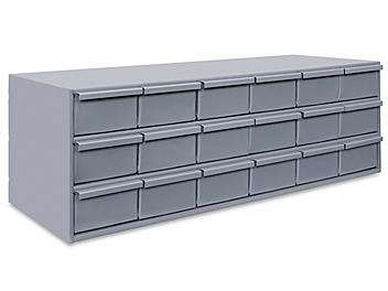 """Welded Parts Cabinet - 18 Drawer, 34 x 12 x 11"""" H-6404"""