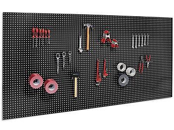 """Metal Pegboard - 96 x 48"""", Black H-6450BL"""