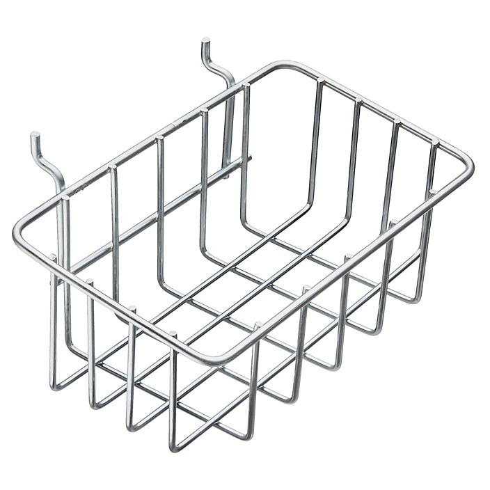 """Pegboard Wire Basket - 8 3/8"""" Wide, Zinc-Plated H-6451"""
