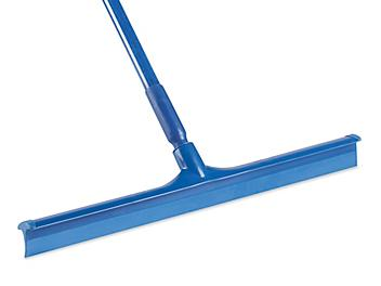 """Colored Floor Squeegee - Rubber, 24"""", Blue H-6490BLU"""