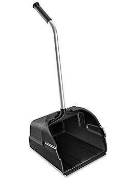 Jumbo Plastic Standing Dust Pan - Black H-6497BL
