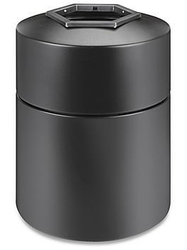 Hexagon Trash Can - 45 Gallon, Black H-6569