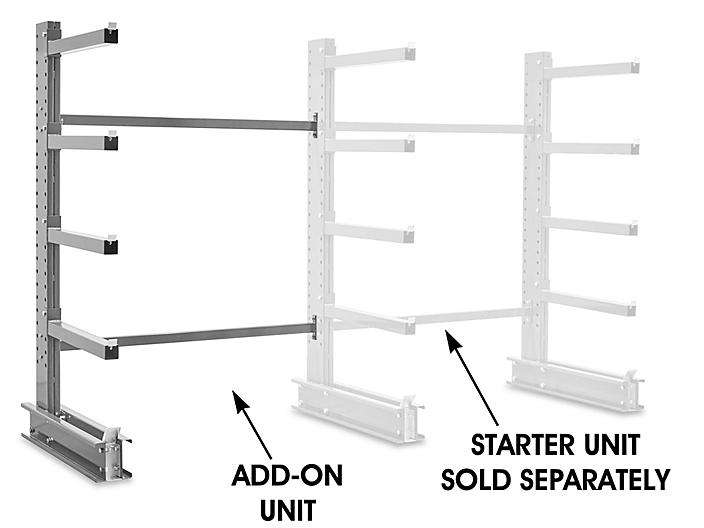 """Add-On Unit for Single-Sided Cantilever Rack, 76 x 49 x 96"""" H-6643-ADD"""