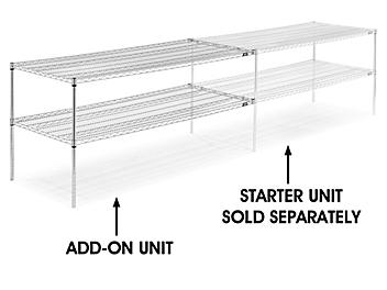 """Chrome Wire Shelving Add-On Unit - 72 x 30"""""""