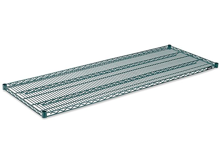 """Additional Epoxy Wire Shelves - 72 x 24"""", Green H-6783G"""