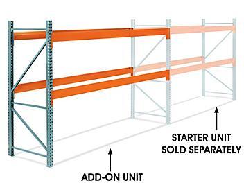 "Add-On Unit for 2 Shelf Pallet Rack - 144 x 42 x 96"" H-6805-ADD"