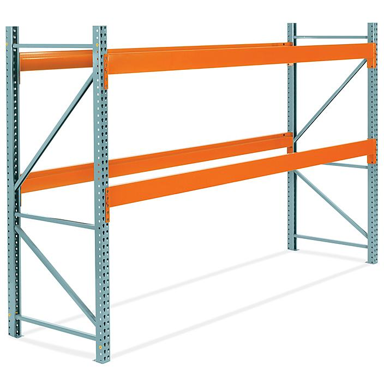 "2 Shelf Pallet Rack Starter Unit - 144 x 42 x 96"" H-6805"