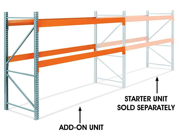 "Add-On Unit for 2 Shelf Pallet Rack - 144 x 48 x 96"" H-6806-ADD"