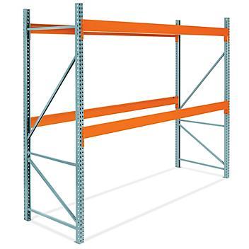 "2 Shelf Pallet Rack Starter Unit - 144 x 48 x 120"" H-6808"