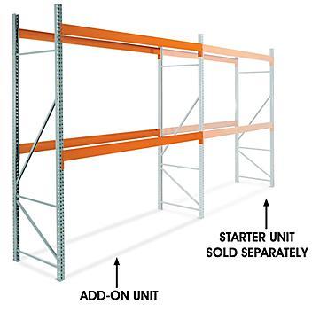 "Add-On Unit for 2 Shelf Pallet Rack - 144 x 42 x 144"" H-6809-ADD"