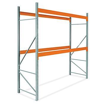 "2 Shelf Pallet Rack Starter Unit - 144 x 48 x 144"" H-6810"