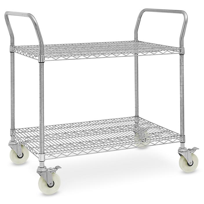 """Stainless Steel Wire Cart - 39 x 24 x 41"""" H-6820"""