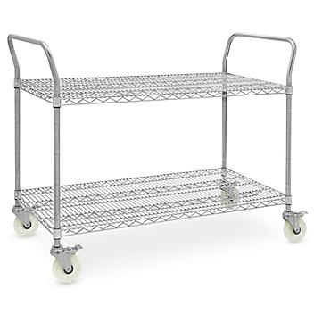 """Stainless Steel Wire Cart - 51 x 24 x 41"""" H-6821"""
