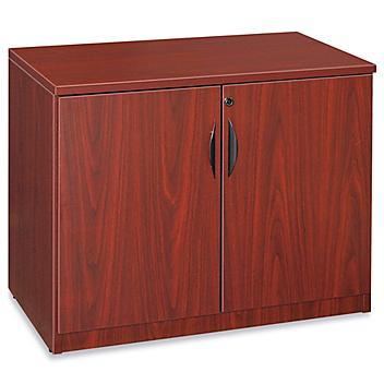 Laminate Storage Cabinet - 2-Shelf, Mahogany H-6859MAH