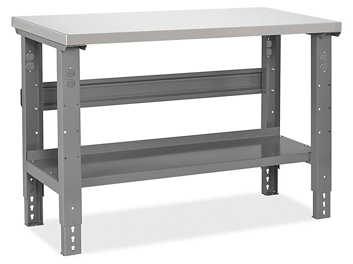 """Industrial Packing Table - 48 x 24"""", Stainless Steel Top H-6863-SS"""