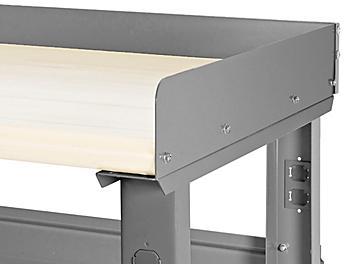 H-6888 – Rebords latéraux et arrière pour table d'emballage – 48 x 24 po