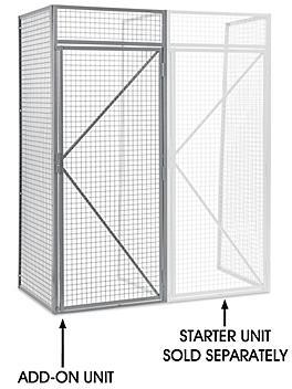 "Add-On Unit for Bulk Storage Locker - Single Tier, 1 Wide, Unassembled, 36"" Wide, 36"" Deep H-6896-ADD"