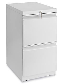 Mobile Pedestal File - 2 Drawer, Light Gray H-7004GR