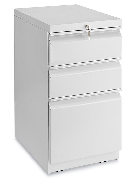 Mobile Pedestal File - 3 Drawer, Light Gray H-7005GR