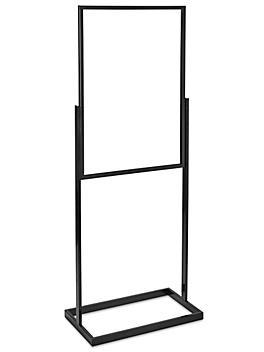 "Floor Standing Sign Holder - Single Tier, 24 x 36"", Black H-7014BL"