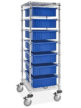 """7 Bin Restocking Cart - 20 x 15 x 6"""" Bins"""