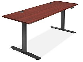 "Adjustable Height Desk - 72 x 24"", Mahogany H-7035MAH"