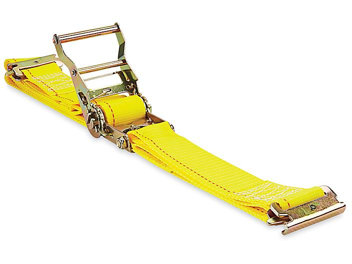 "Uline Ratchet Tie-Downs - E-Track, 2"" x 12', 3,000 lb Capacity H-7063"