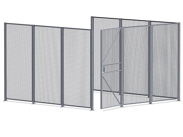 Wire Security Room - 12 x 12 x 8', 3-Sided H-7067-3