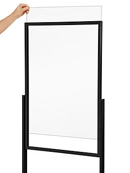 """Clear Plastic Sign Inserts - 24 x 36"""" H-7169"""