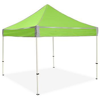Hi-Vis Aluminum Frame Canopy - 10 x 10', Lime H-7230LIME