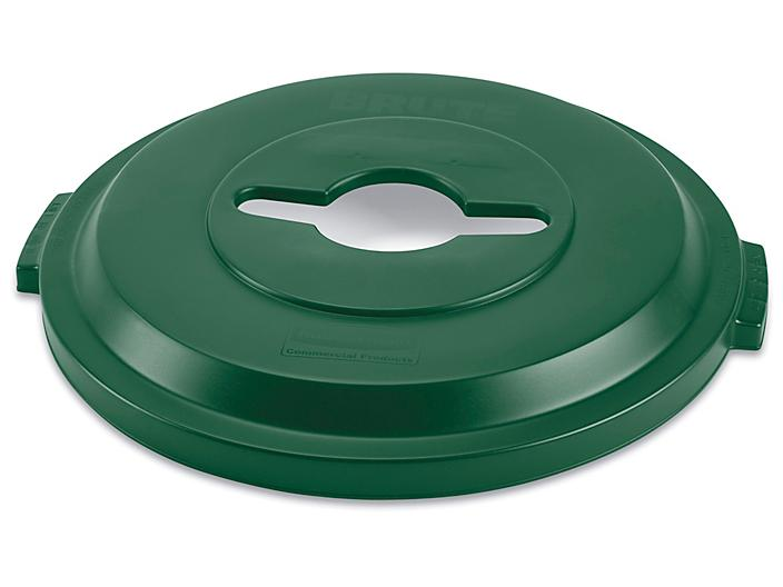 Rubbermaid® Brute® Recycling Container Single Stream Lid - 32 Gallon, Green H-7240G