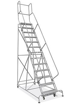 "13 Step Grip Step Ladder - Unassembled with 10"" Top Step H-7296U-10"