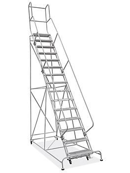 "15 Step Grip Step Ladder - Unassembled with 20"" Top Step H-7298U-20"