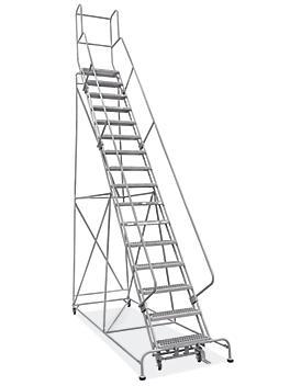 "16 Step Grip Step Ladder - Unassembled with 10"" Top Step H-7299U-10"