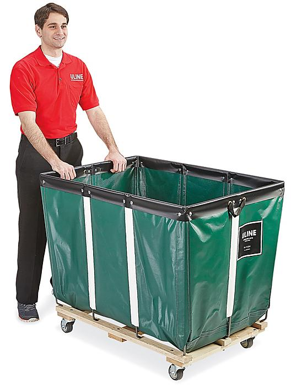 Vinyl Basket Truck - 14 Bushel, Green H-7304G
