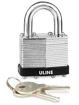 """Uline Steel Padlock - Keyed Alike, 7/8"""" Shackle H-7440"""