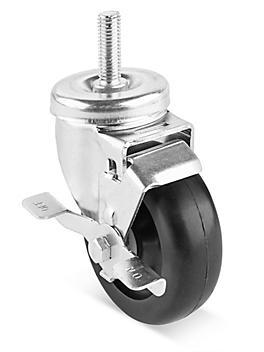"Stem Polyolefin Caster - Swivel with Brake, 4 x 1 1/4"" H-7450SWB"