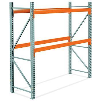 "2 Shelf Pallet Rack Starter Unit - 96 x 36 x 96"" H-7461"