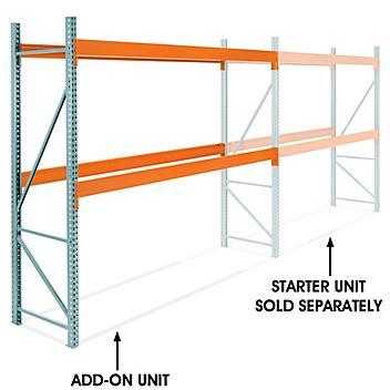 "Add-On Unit for 2 Shelf Pallet Rack - 144 x 36 x 120"" H-7468-ADD"
