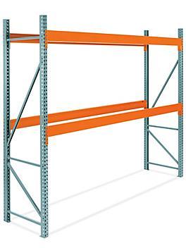 "2 Shelf Pallet Rack Starter Unit - 144 x 36 x 120"" H-7468"