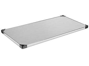 """Additional Solid Galvanized Steel Shelves - 48 x 24"""" H-7483"""