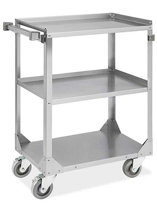 """Stainless Steel Service Cart - 28 x 17 x 33"""" H-7490"""