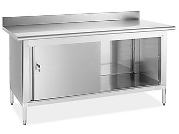 """Stainless Steel Cabinet Workbench - 72 x 30"""" H-7564"""