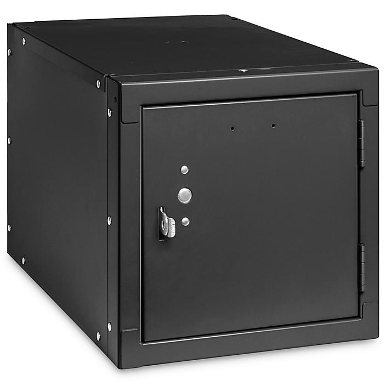 "Stackable Cube Locker - 12 x 18 x 12"", Black H-7588BL"